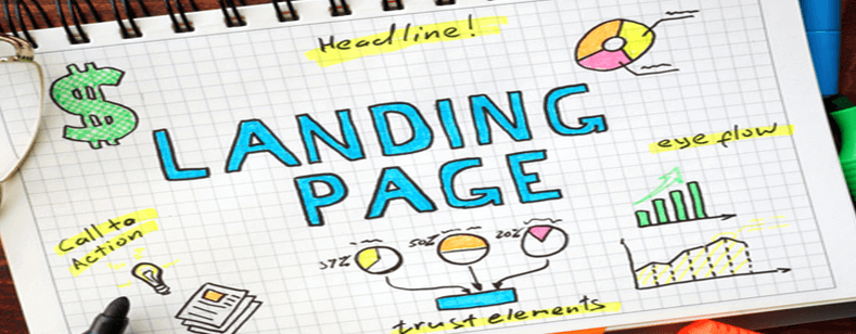 landing page graphic used as a header image