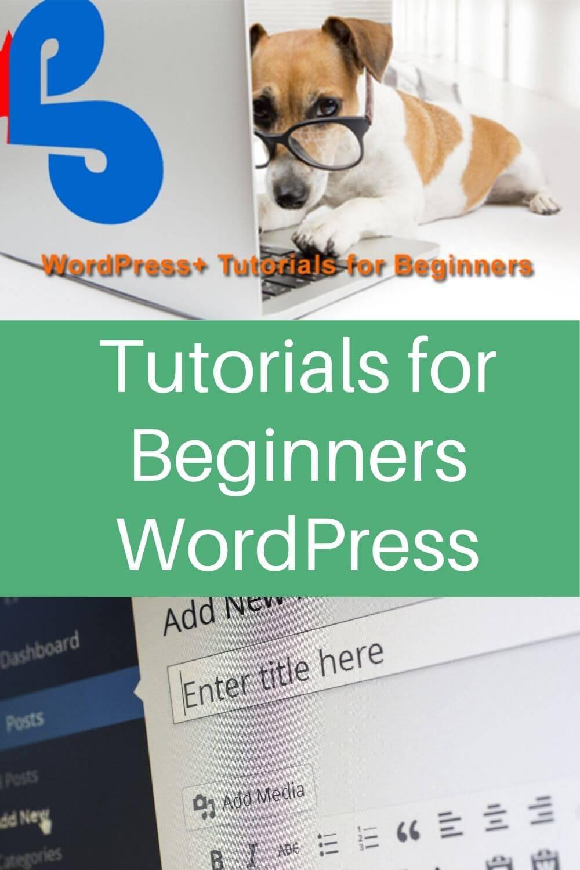 Tutorials for beginners WordPress