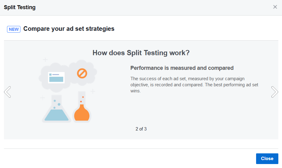 screen print explaining split testing, image 2 of 3