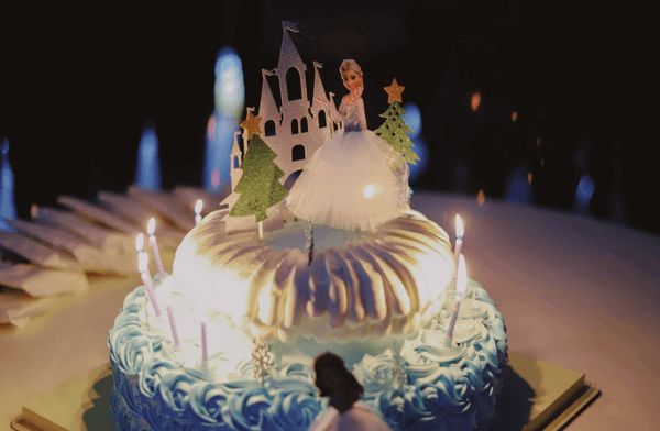 a cake decorated for a princess