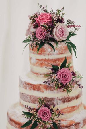 a very basic wedding cake