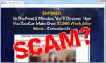"""screen print of the Profit Genesis 2.0 website with """"Scam?"""" pasted on top"""