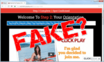 """screen print of Explode My Payday website landing page with """"Fake?"""" on top of it"""