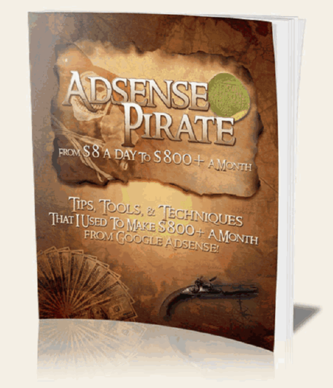 screen print of Adsense Pirate's eBook cover