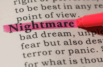 a screen print of a dictionary meaning of the word nightmare