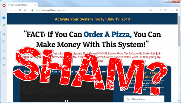 Cheap Affiliate Marketing 12 Minute Affiliate System  Full Price