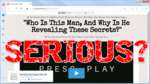 """screen print of The Great Heist's website with """"Serious?"""" on top"""