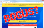 "screen print of Digifunnel Lab website with ""Bogus?"" over top"