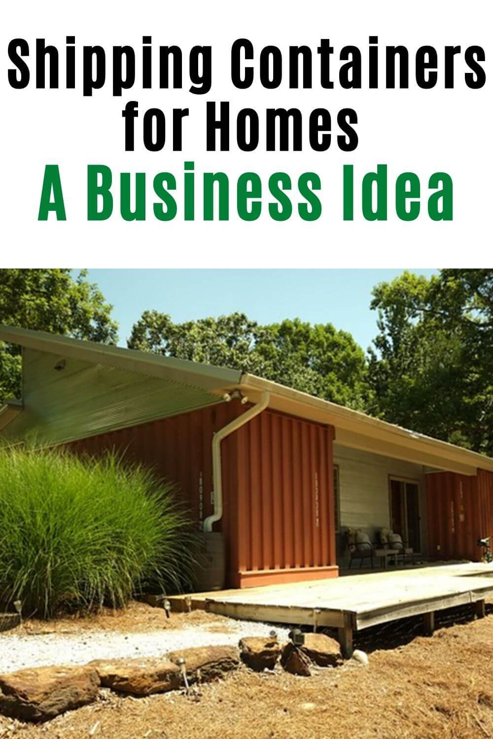 shopping containers for homes - a business idea
