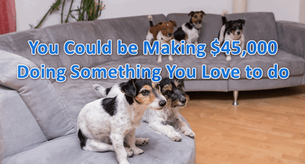 You could be making $45,000 doing something you love to do