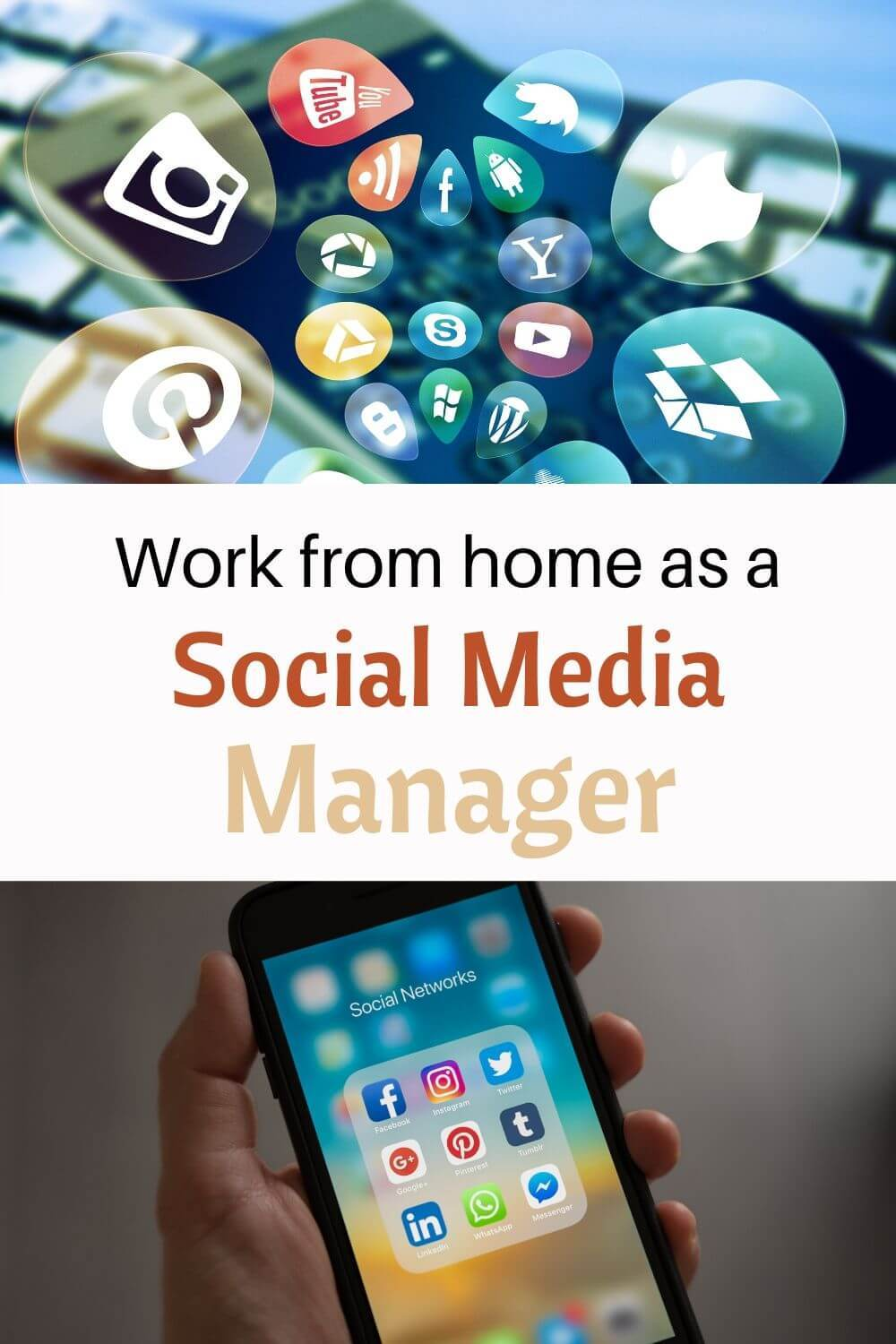 Work from home as a social media manager