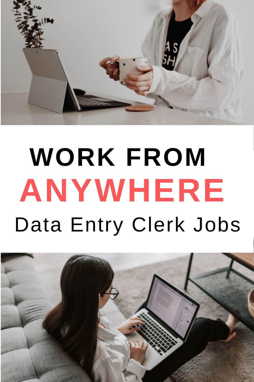 Work from anywhere - Data entry clerk jobs