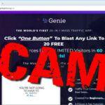 """screen print of vendor's website with """"SCAM?"""" overtop"""