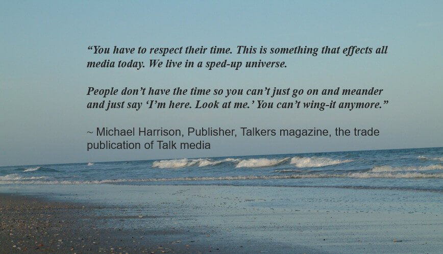 a Michael Harrison quote