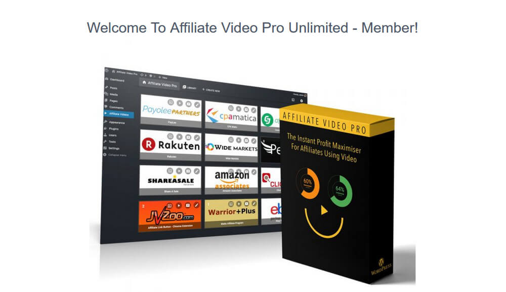 screen print of Affiliate Video Pro