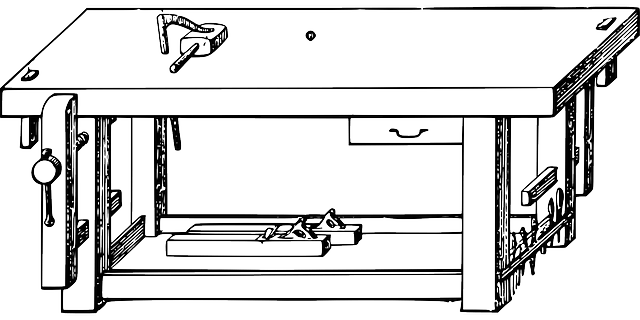 sketch of a work bench